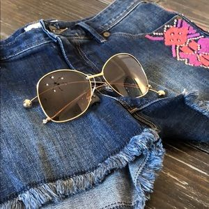 5782faacbf26 Brown gold sunnies sunglasses new